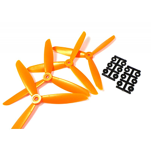 "HQProp 3 Blade 6""x4,5x3 (15.24cm) Propeller Orange - 4 pcs, Glass reinforced"