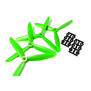 "HQProp 3 Blade 6""x4,5x3 (15.24cm) Propeller Green - 4 pcs, Glass reinforced"