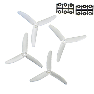 "HQProp 3 Blade 5""x4x3W (12.7cm) Propeller White Metall Danny Edition - 4 pcs, Glass reinforced"