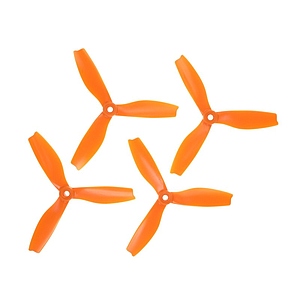 "HQProp Dreiblatt DPS 5""x4x3  (12.7cm) Durable S Propeller Set orange - 4 Stck."