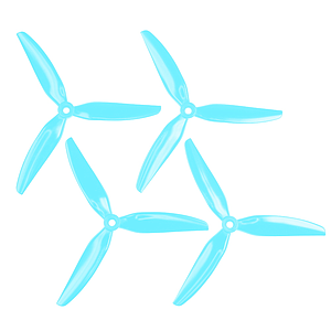 "HQProp Dreiblatt DP 6""x3x3 V1S (15,24cm) Durable Propeller Set light blue 2CW und 2CCW, Polycarbonat"